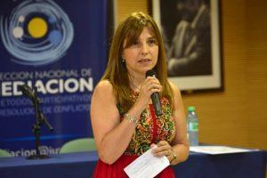 Raquel Munt, directora nacional de Mediación y Métodos Participativos de Resolución de Conflictos