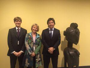 Juan Bautista Mahiques con Andrea Huber de Penal Reform International