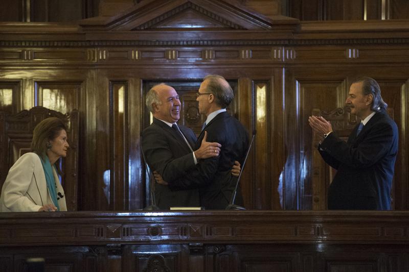 El nuevo juez y el presidente de la Corte, Zafaroni