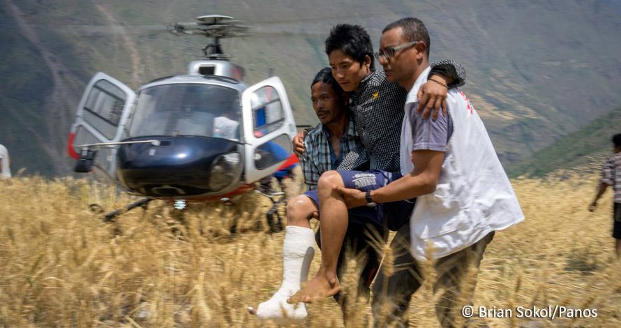 Escena del trabajo de la organización en Nepal