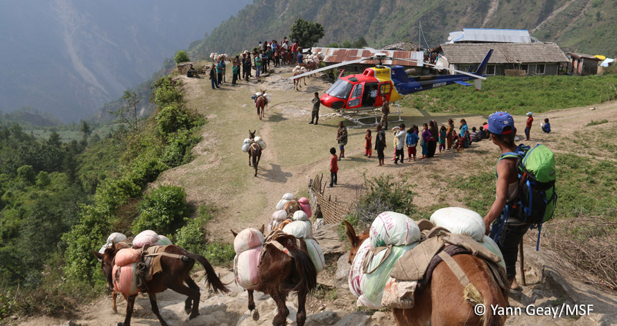 Una escena cotidiana del trabajo en Nepal