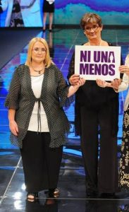 Uguet y Marcela Morena, mamá de Julieta Mena