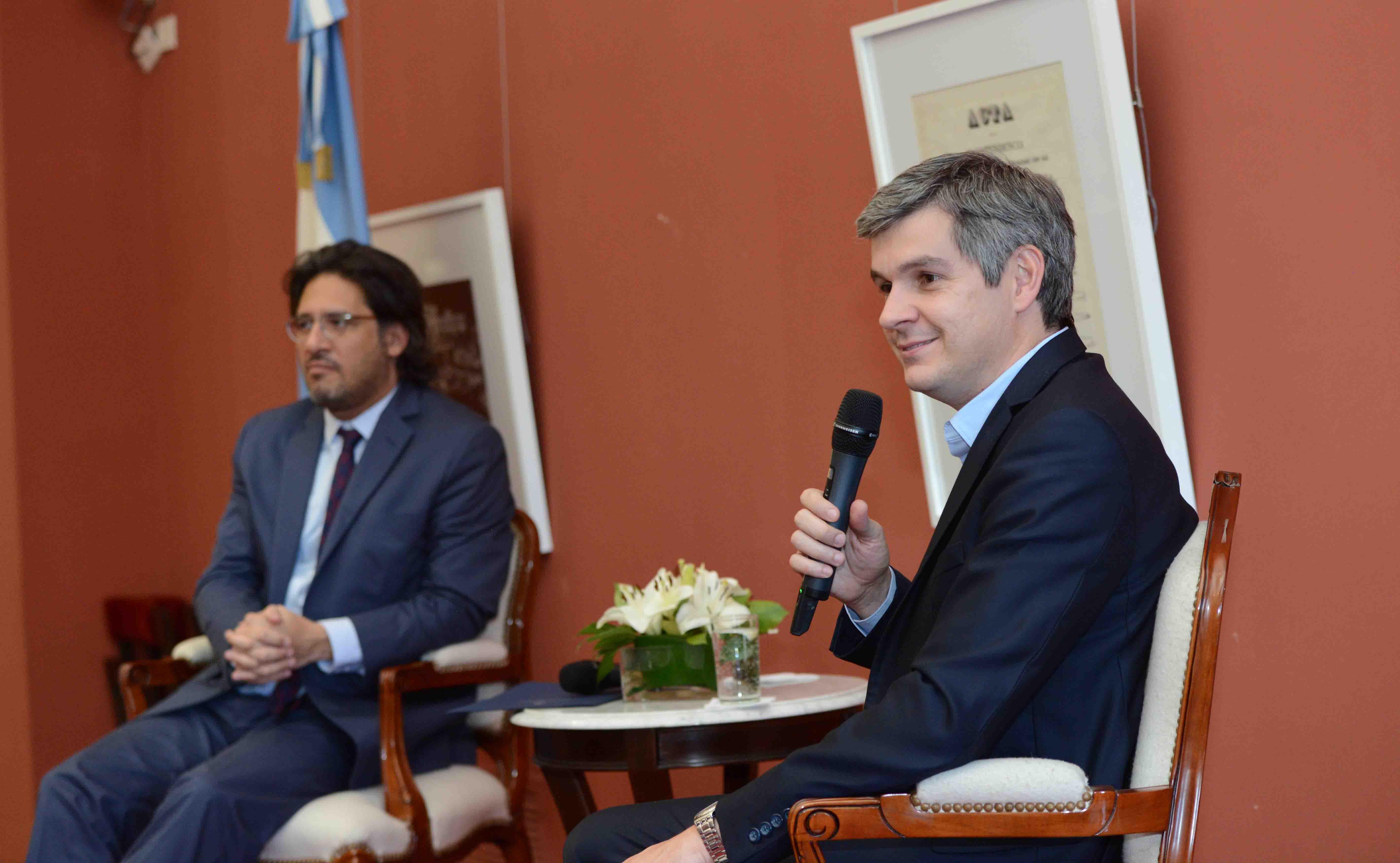 Garavano y Peña en Casa Rosada