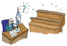 Juez frente a estrado de jurados