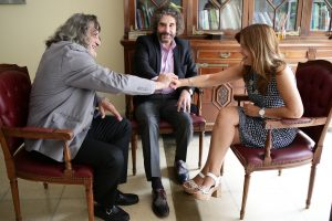 Jorge Pesqueira junto a Raquel Munt
