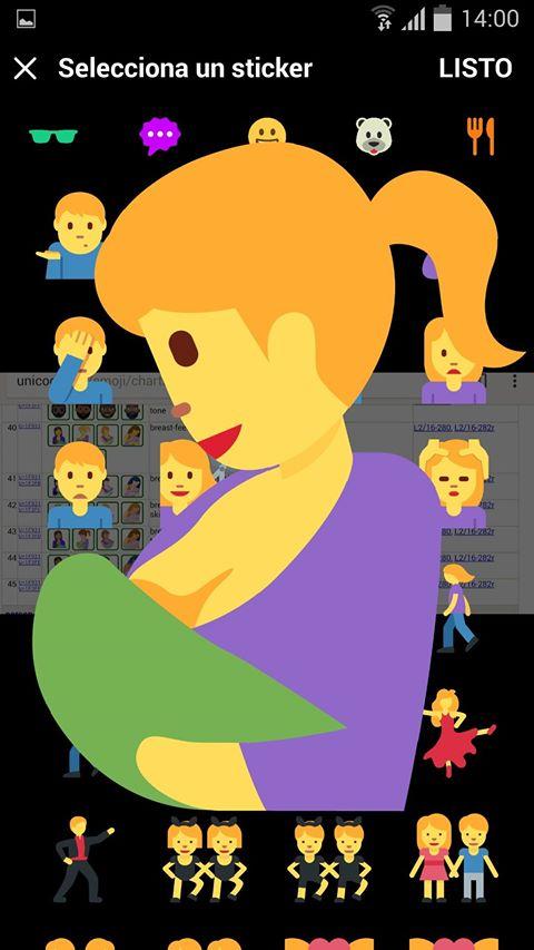 El próximo emoji de 'dar el pecho'.
