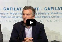 Macri en la apertura del GAFI -GAFILAT