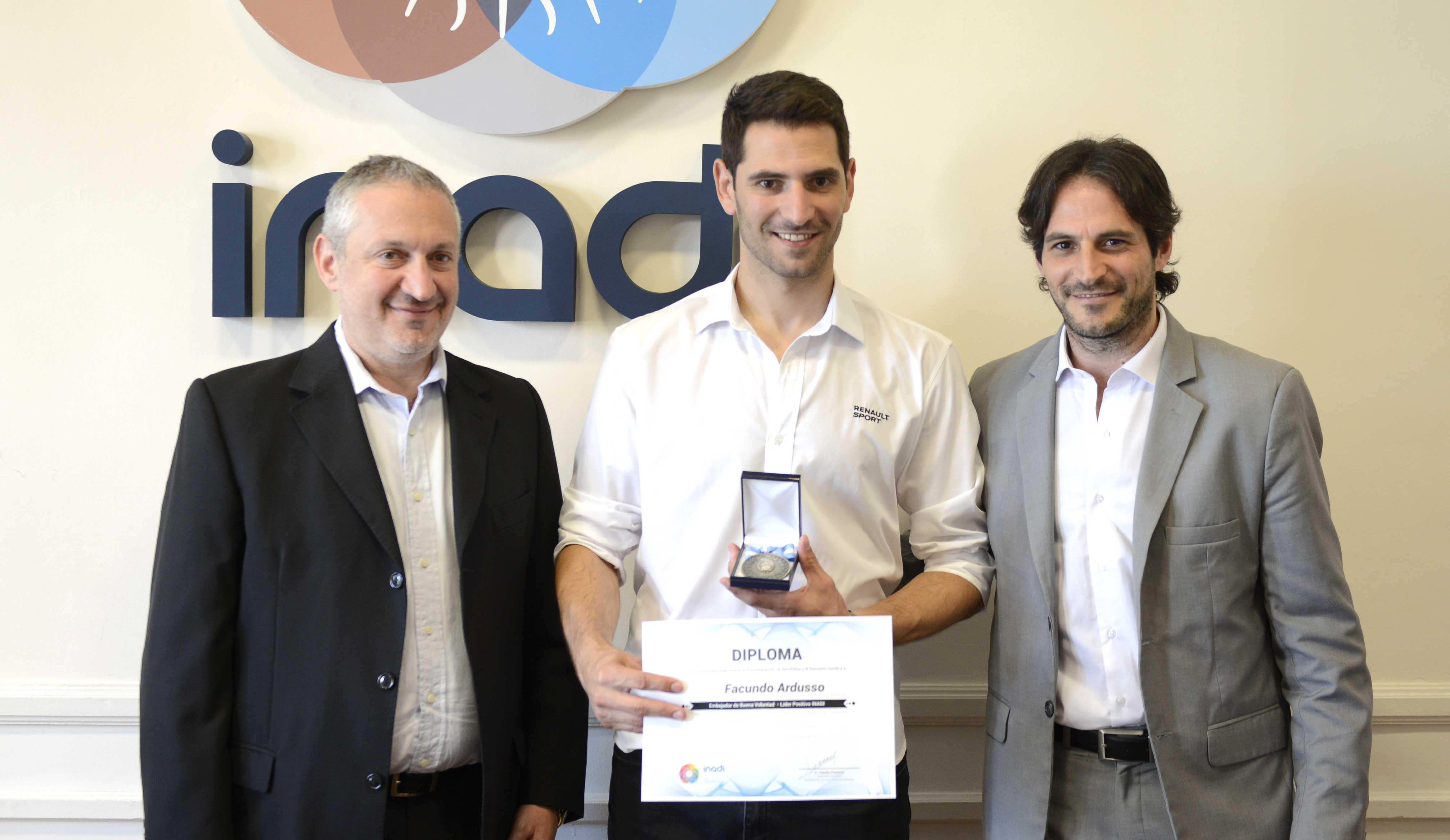 Facundo Ardusso junto a Claudio Presman y Ariel Isaak